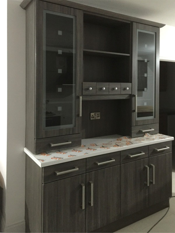 ... Ireland Walnut Finished Kitchen Dresser   Designed And Fitted By  Barrett Kitchens, County Donegal, Ireland