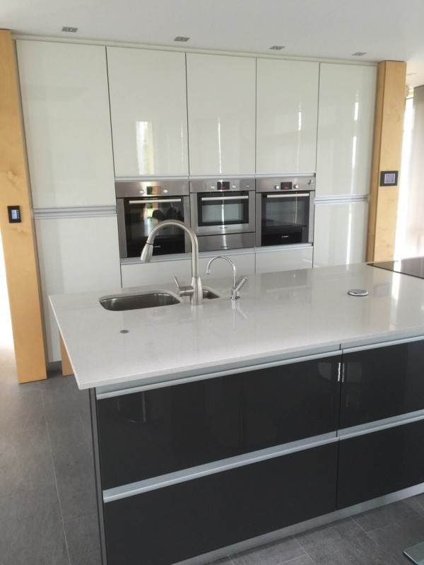 Gloss White Kitchen Letterkenny Designed And Fitted By
